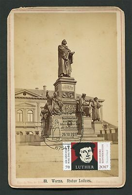 BUND MK 2017 MARTIN LUTHER DENKMAL WORMS MAXIMUMKARTE KABINETTFOTO!! MC CM h1786