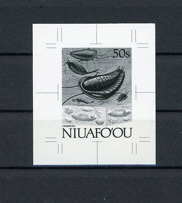NIUAFOOU MONOCHROME PROOF PREHISTORY TRILOBITE FOSSIL ONLY 20 MADE !! RARE h1860