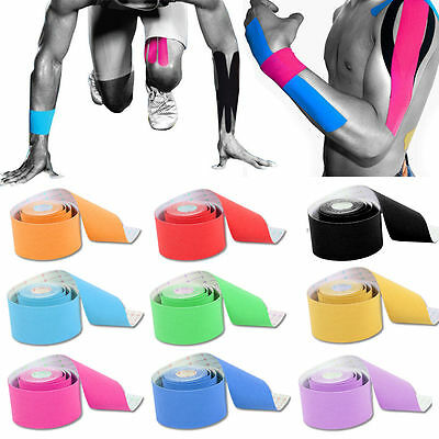 6 Rolls Of 5M Kinesiology Tape Sport Physio Muscle Strain Injury Pain Relief UK