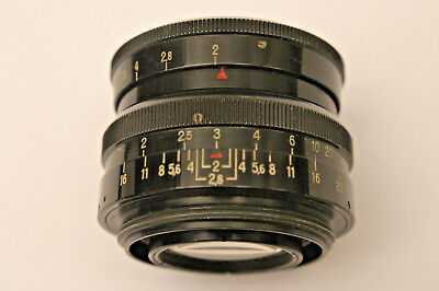 Carl Zeiss Biotar 58mm F2 T lens.  M42 screw fit