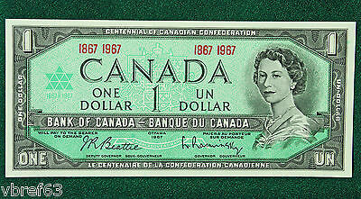 1967 Canada BC 45a 1867-1967 Centennial Banknote in average circulated condition