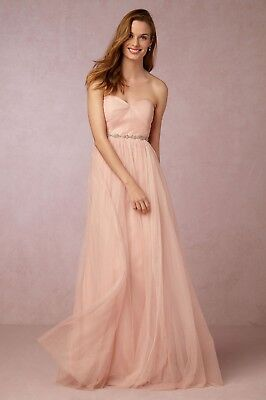 16fabe391 BHLDN Jenny Yoo Annabelle Convertible Tulle Bridesmaid Dress Blush Pink -Size  12