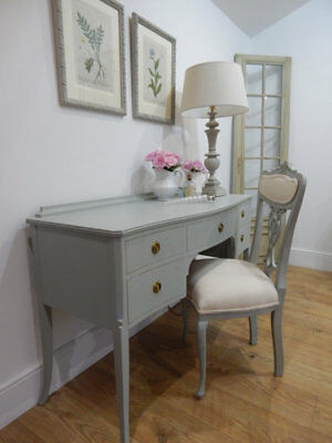 Vintage ladies writing table and chair set