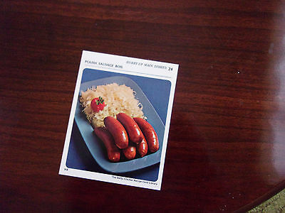 1971 Betty Crocker Recipe Collection Card  HURRY UP MAIN DISHES  9-S #24 ONLY