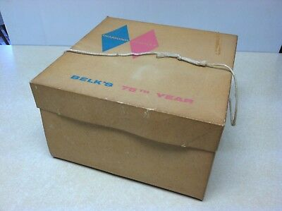 Vintage Hat Box Hatbox Belk's Department Store Diamond Jubilee 75th Anniversary