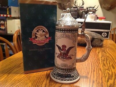 Cb26 Evolution Of The A&E Eagle Large Stein Budweiser Anheuser Busch Collector's