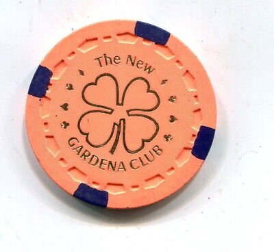$.50 The New Gardena Club-Gardena Ca. Gambling Chip 1980-1983