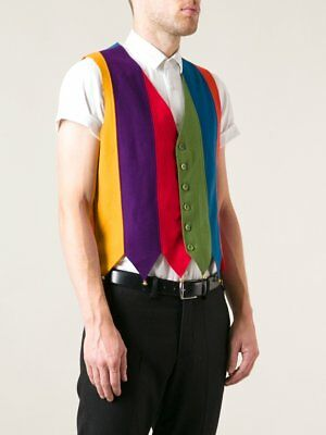 MOSCHINO Cheap & Chic vintage archive wool felt JESTER clown vest with bells