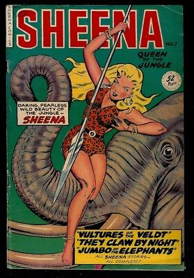 Sheena #7- 1950 Mid Grade Copy- Fine/fine-, A Beauty