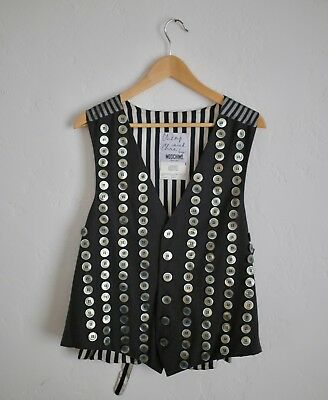 MOSCHINO Cheap & Chic vintage archive spring 1995 iconic button vest