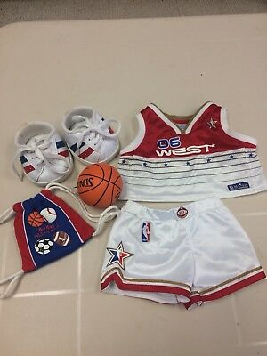 Build A Bear Basketball Uniform NBA West 06 backpack Ball Shoes outfit complete