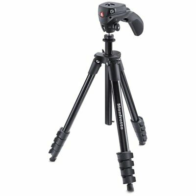 Manfrotto Tripod Compact Action Black With Head Joystick Mkcompactacn-Bk
