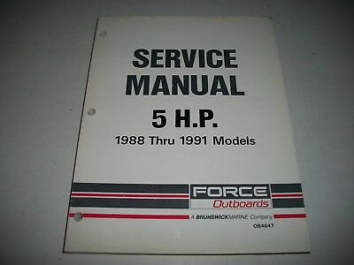 1988 1989 1990 1991 Force Outboards 5 H.p.  Service Shop Manual   Ob4647