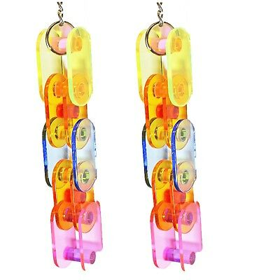 NEW Acrylic Links Hanging Ladder Bird Cage Toy for Small to Medium Pet Birds