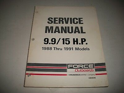 1988 1989 1990 1991 Force Outboards 9.9 / 15 H.p.  Service Shop Manual   Ob4646