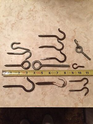 Vintage METAL Screw-In Hooks plant hangers -door hooks- coat rack-kitchen