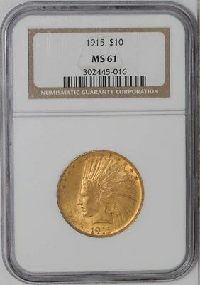 1915 $10 Gold Indian #302445-016 MS61 NGC