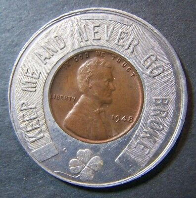 Vintage Lincoln Penny Good Luck Jerry Elman Chevrot 1948 Wheat 1c No Reserve