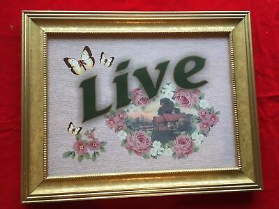 Nursery Baby Framed Wall Picture Print Live Roses Shabby Cottage