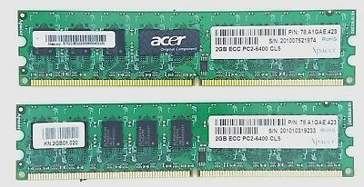 Apacer 4Gb Ddr2 Ecc Server Memory Ram Pc2-6400 Cl5 2X2Gb