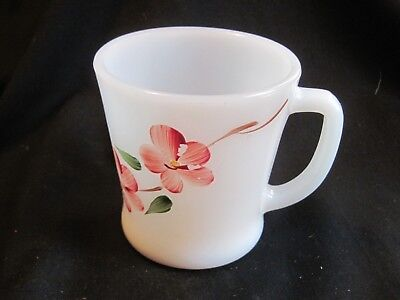Fire King Peach Blossom Gay Fad Decorated D Handle Mug