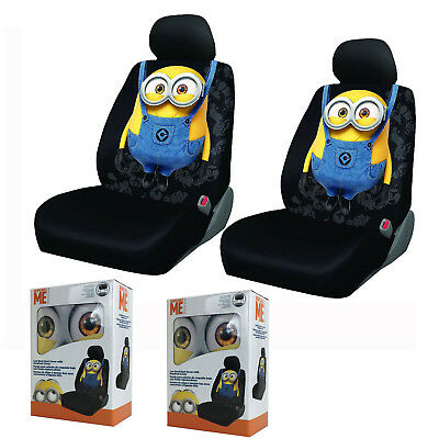BRAND NEW Despicable Me Minions Front and Back Car Seat Covers Full ...