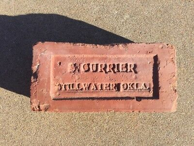 Very Rare..Vintage...Near Mint...S. CURRIER...STILLWATER, OKLAHOMA  Brick