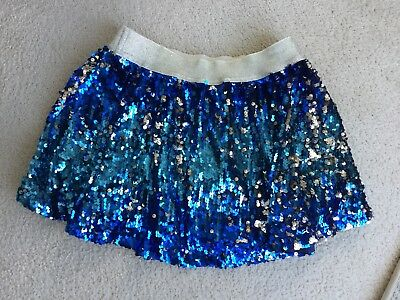 JUSTICE blue Sequin Skirt Skort Size 12 EUC - Dressy/ Everyday/ party