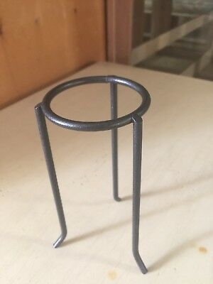 Vintage Wrought Iron Pedestal For Eggs Or Balls Or Plant Stand 5.5""