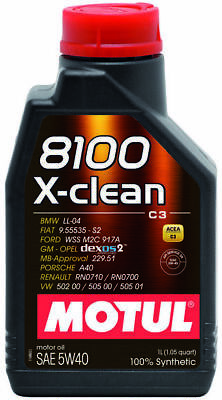 Motul 8100 X-Clean 5W-40 100% Synthetic Engine Oil 1L