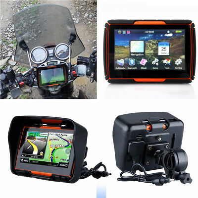 "1x 4.3"" TFT Touch Screen Waterproof Motorcycle GPS Navigation with Mount Bracket"