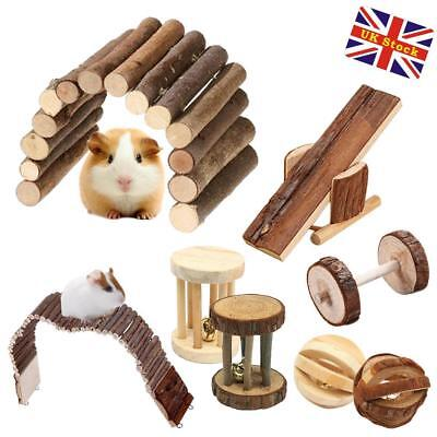 Small Animal Hamster Mouse Rat Rabbit Guinea Pignatural Wooden Toys Treats Gnaws