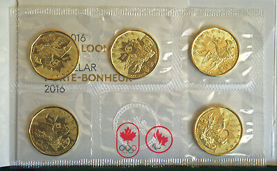2016 Canada Lucky Loonie Rio Olympics 5 pack brilliant uncirculated
