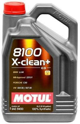 Motul 8100 X-Clean+ 5W-30 100% Synthetic Engine Oil 5L