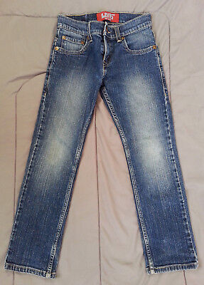 Kids Girls Levis 511 Denim Blue Jeans Size 8 Regular Skinny 24x22