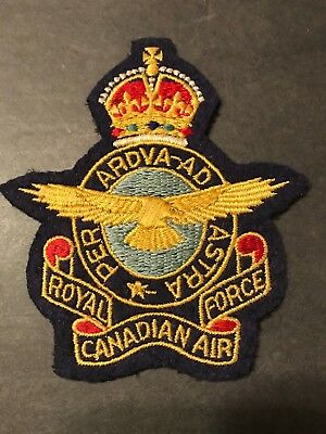 Wwii / Ww2? Royal Canadian Air Force Patch - Vintage Beauty! Per Ardva-Ad Astra