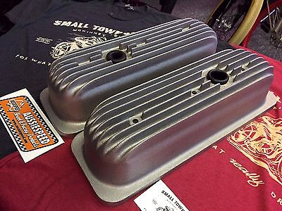 FINNED RAW CAST Aluminum CHEVY 4.3 V6 VALVE COVERS hot rod, tall roller rockers