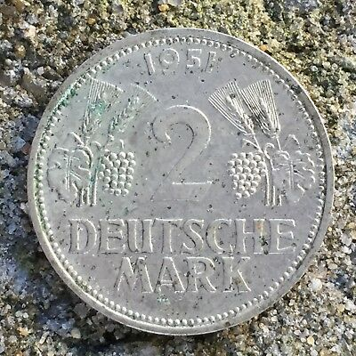 Germany 2 Deutsche Mark DM 1951 D (Munich) - AUnc