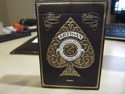 NEW Artisan Black Edition Playing Cards DECK by Theory 11 Sealed Red Seal