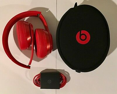 Refurbished Beats (Product Red) Solo 2 WIRED Headphone with 6 Month Warranty