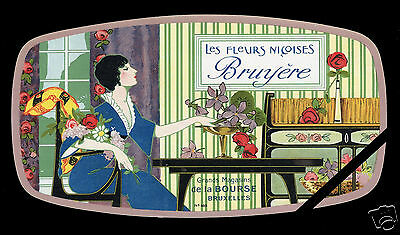 Vintage French Perfume Soap Label: Original Antique Les Fleurs Nicoises 7-3/4""