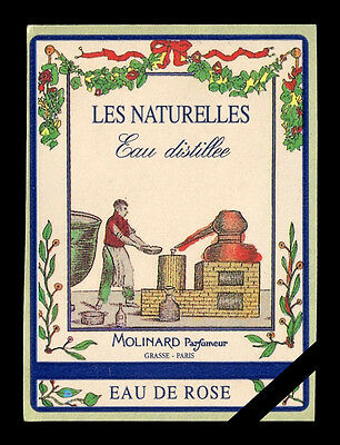 Vintage French Perfume Soap Label: Original Molinard Eau De Rose Paris France