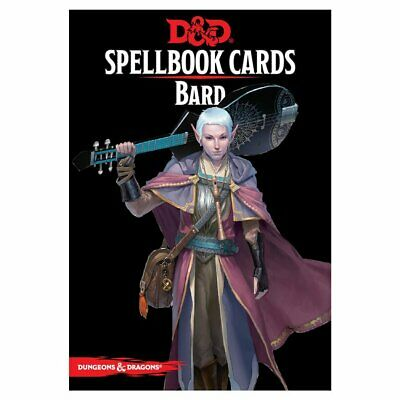 D&D Spellbook Cards Bard Deck Revised 2017 Edition Board Game