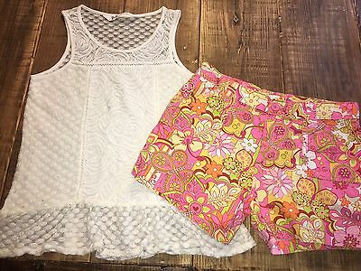 Girls Size 14 Outfit PS Aeropostale Lace Tank Top Childrens Place Shorts Summer