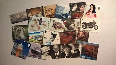 20 Mint Unused First Class Commemorative Stamps With Original Gum For Postage S5