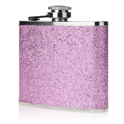 5oz Stainless-Steel Pu Alcohol Drink Liquor Whisky Hip Flask Portable Purple