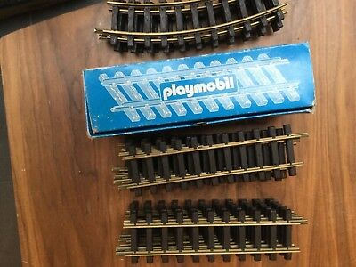 Playmobil  train lot straight rails 4355 Curvetrack rails 4354