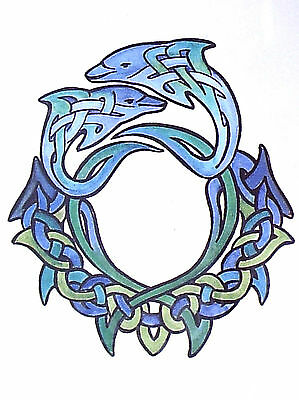 1 x sheet of BLUE CELTIC DRAGONS TEMPORARY TATTOOS = TYBB015
