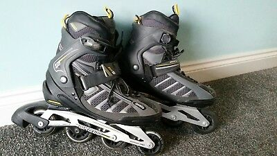 Oxelo inline skates - adult size 9 - plus protection pack
