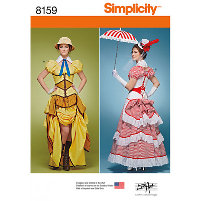 Misses Cosplay Costumes with Corsets Simplicity Sewing Pattern 8159